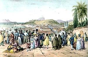 Rugendas - Vue prise devant l'eglise de San-Bento