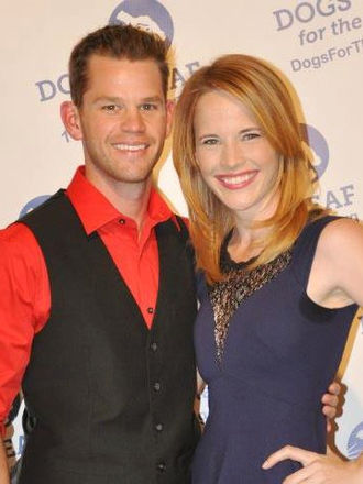 Katie Leclerc - Katie Leclerc with Ryan Lane at a Dogs for the Deaf benefit in April 2013