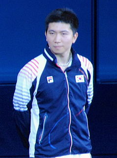 Ryu Seung-min Olympic table tennis player