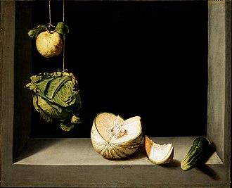 San Diego Museum of Art - Image: Sánchez Cotán (Bodegón con membrillo, repollo, melón y pepino)