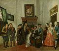 """SA 27928.1-3-Triptiek voorstellende de boerenrechtbank uit het blijspel """"Beslikte Swaantje""""-De boerenrechtbank uit het blijspel """"Beslikte Swaantje"""" - het pleidooi van advocaat Carel.jpg"""