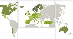 Sustainable Governance Indicators - Image: SGI Management Index map