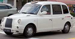 SHB786K - London Cab TX4 in Singapore, SMRT owned front view.jpg