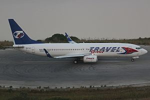 Travel Service Polska - Boeing 737-800 of Travel Service Polska in 2017, registration SP-TVZ, now operated by SmartWings