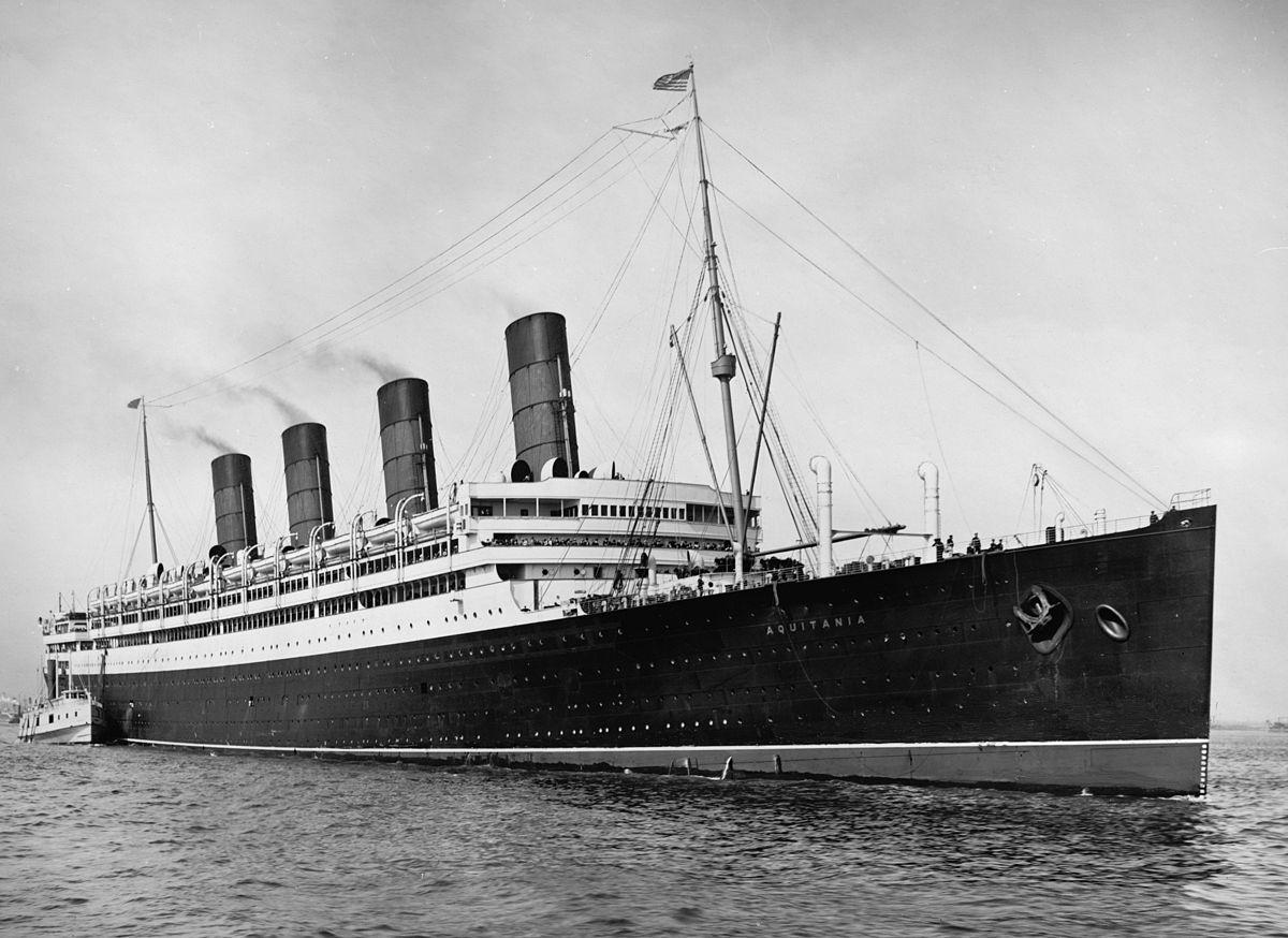 Image result for aquitania ship