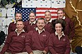 STS-125 Crew Portrait on the Middeck (27625517234).jpg