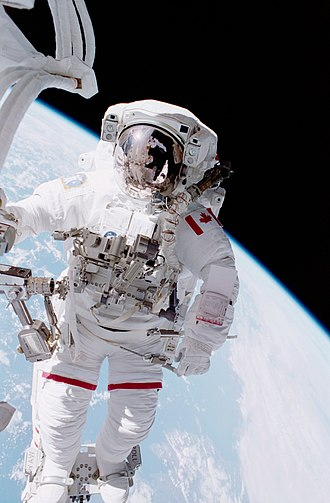 Chris Hadfield - Hadfield spacewalking during the STS-100 mission