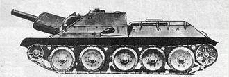122 mm howitzer M1938 (M-30) - SU-122 assault gun.
