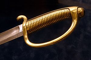 Sabre - The briquet, typical infantry sabre of the Napoleonic Wars.