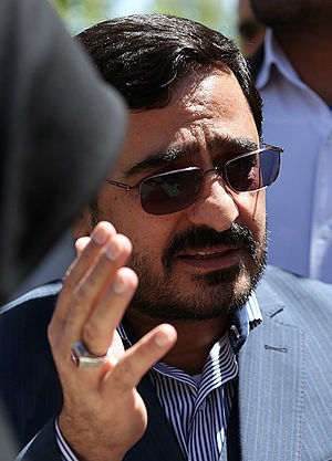 Saeed Mortazavi - Mortazavi after a court session (April 2015)