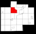 Saginaw County Michigan townships Thomas highlighted.png