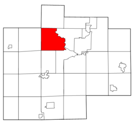 Saginaw County Michigan townships Thomas highlighted.png