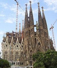 The Sagrada Família church, Gaudi's masterpiece
