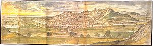 Sagunto Castle - Illustration of Sagunto Castle produced in 1563 by Anton van den Wyngaerde