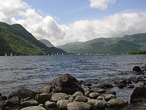 Ullswater - Sailing is a popular activity on Ullswater.