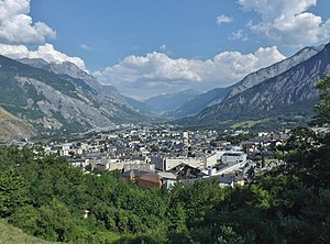 Saint-Jean-de-Maurienne - A view of Saint-Jean-de-Maurienne in the direction of Modane