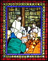 Saint Matthew the Apostle Church (Gahanna, Ohio) - stained glass, the Annunciation - detail, Last Supper.JPG