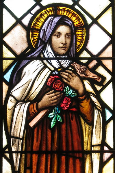 File:Saint Peter Catholic Church (Millersburg, Ohio) - stained glass, St. Thérèse de Lisieux - detail.jpg