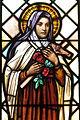 Saint Peter Catholic Church (Millersburg, Ohio) - stained glass, St. Thérèse de Lisieux - detail.jpg