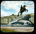 Saint Petersburg. Peter the Great Monument (The Bronze Horseman) on Senatskaia Ploshchad', with the Admiralty Building in the back.jpg