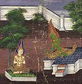 Sakka (Indra) Reveals Himself to Maddi, Scene from the Vessantara Jataka LACMA M.76.112.22.jpg