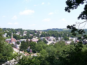 Saltsburg, Pennsylvania - Picture of Saltsburg taken from the overlook located on the East side of The Kiski School