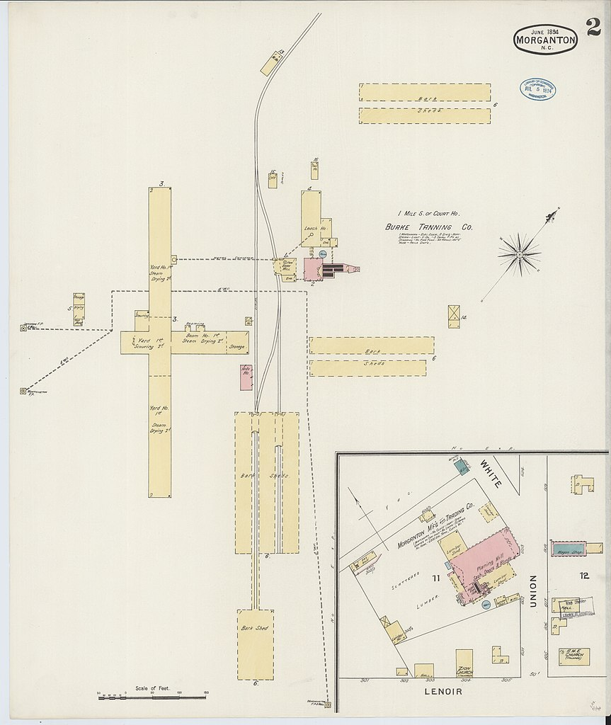 File Sanborn Fire Insurance Map From Morganton Burke County North