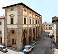 Sansepolcro, palazzo del comune visto dalla terrazza del museo civico, 01.JPG