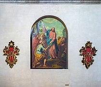 Santa Maria dei Miracoli Gesu da le chiavi a Pietro Brescia.jpg