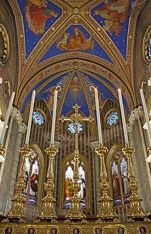 Altar in Santa Maria sopra Minerva in Rome, Italy.