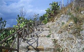 Castelmola - Image: Saracens' path