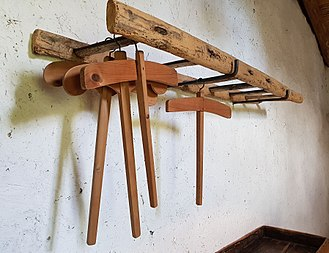 Clothes hanger -  Wooden clothes hangers in Sardinia