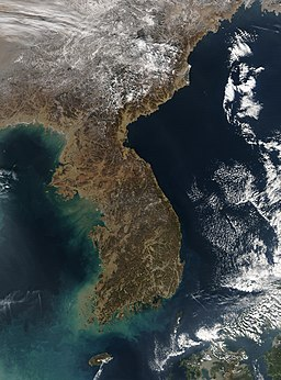 Satellite image of Korea 2004-01-04