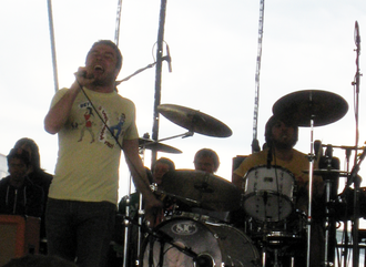 Say Anything (band) - Bemis and Linder at Warped Tour, 2008-07-24