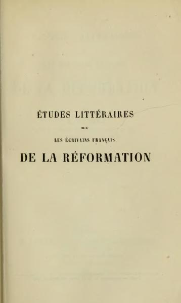 File:Sayous - Études littéraires sur les écrivains français de la Réformation, t. 2, 1854.djvu