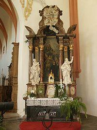Schönaui Szent Erzsébet oltára a Schönaui apátság templomában