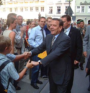 Politics of Germany - Gerhard Schröder in the 2002 elections
