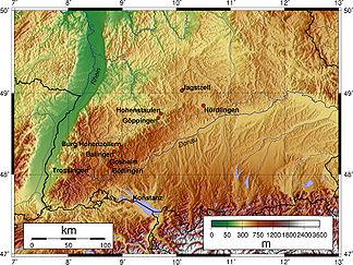 Topografie der Schwäbischen Alb