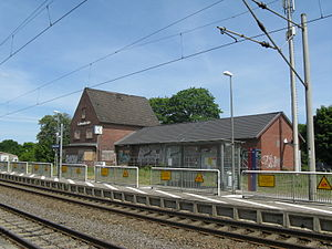 Schwanheide station - Station building, which was demolished in 2012, in 2008