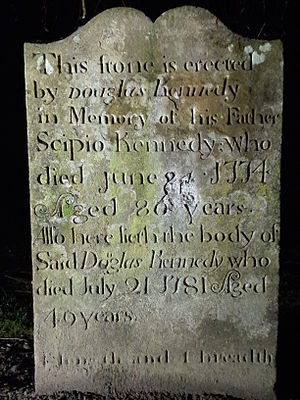 Scipio Kennedy - Grave marker for former slave Scipio Kennedy at Kirkoswald Old Churchyard, Ayrshire, Scotland