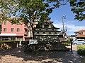 Sculpture of Tenshu of Hagi Castle in front of Higashi-Hagi Station.jpg