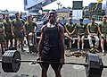 Seaman performs a deadlift during a power lifting competition. (29740966872).jpg