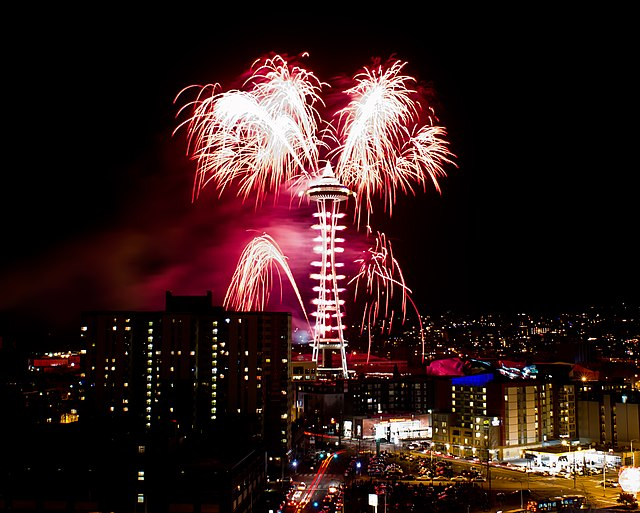 Seattle New Years Eve Fireworks 2011