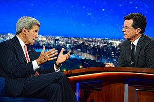 The Late Show with Stephen Colbert - Colbert interviewing Secretary of State John Kerry