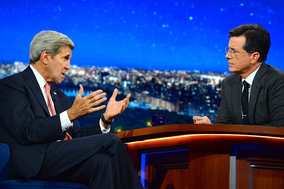 Secretary Kerry Makes an Appearance on The Late Show With Stephen Colbert in New York City (21873224425)