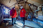 Secretary Kerry Speaks With National Foundation Division of Antarctic Sciences Director Scott Borg, Inside a hut Where Explorer Ernest Shackleton and 14 Other men Lived in 1908 (30913580755).jpg