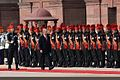 Seychelles President James Michel receiving a guard of honour at Rashtrapati Bhawan.jpg