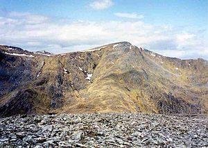 Sgùrr na Lapaich - Sgurr na Lapaich seen from Càrn nan Gobhar, 2 km to the south-east.