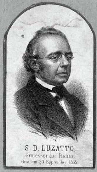 Samuel David Luzzatto - Luzzato, from an 1865 engraving.