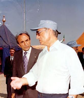 Asadollah Alam - Alam speaking with Mohammad-Reza Shah